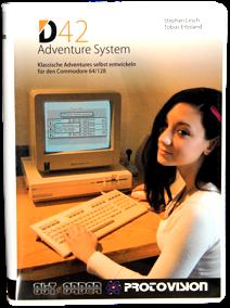 C64: D42 Adventure System von Out of Order Softworks und Protovision.  Adventures für den Brotkasten ohne große Programmierkenntnisse erstellen.