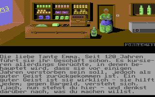 Ein Bild des im Adventure-Baukasten D42 für den Commodore 64 enthaltenen Tutorial-Adventure