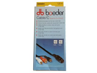 3 Cinch monitor cable (Y/C, from Boeder)
