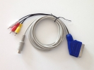 Scart/Composite combo cable for CRT or LCD displays