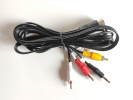 Y/C monitor cable with audio jack (for FM YAM or headphones)