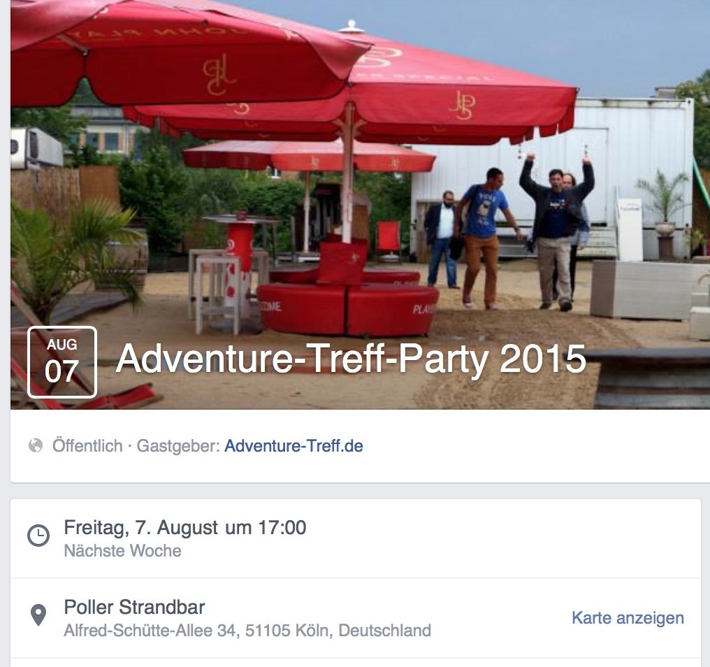 Adventure Treff Party 2015